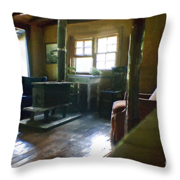 Inside Heaven In Oil Throw Pillow by Cris Hayes