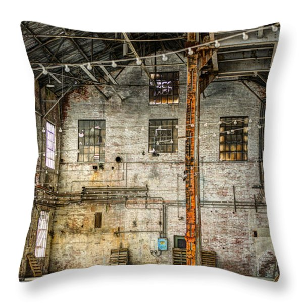 Inside The Old Sugar Mill Throw Pillow by Agrofilms Photography