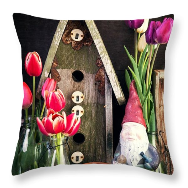Inside The Potting Shed Throw Pillow by Edward Fielding