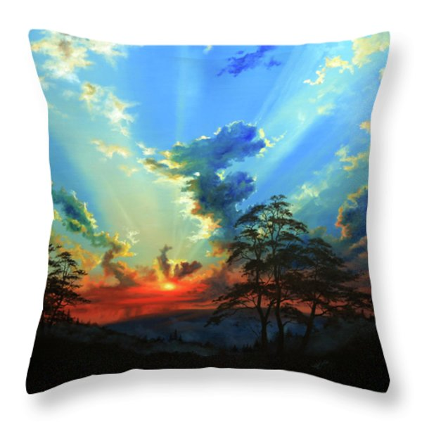 Inspiration Throw Pillow by Hanne Lore Koehler