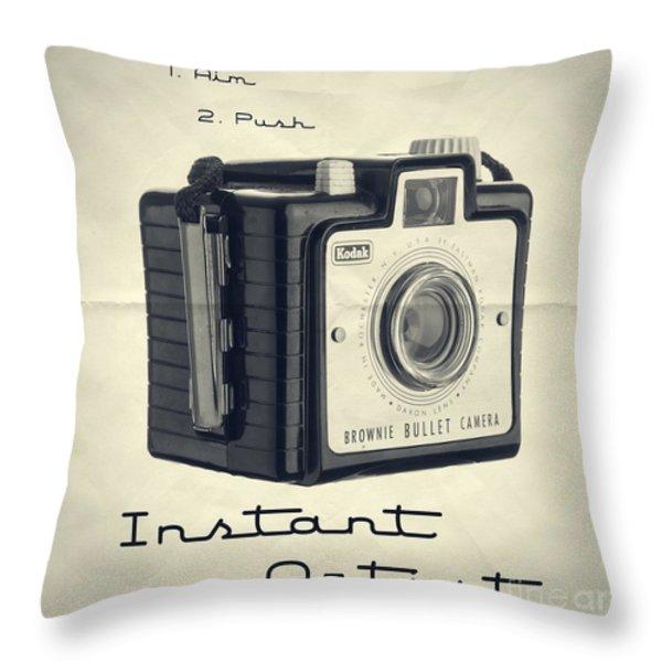 Instant Artist Throw Pillow by Edward Fielding