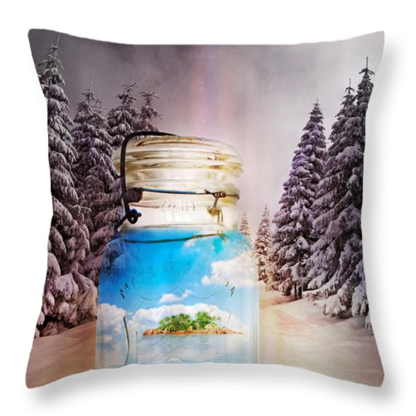 Instant Getaway  Throw Pillow by Terry Fleckney