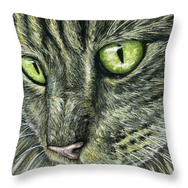 Intense Throw Pillow by Michelle Wrighton