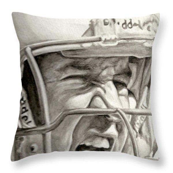 Intensity Peyton Manning Throw Pillow by Tamir Barkan