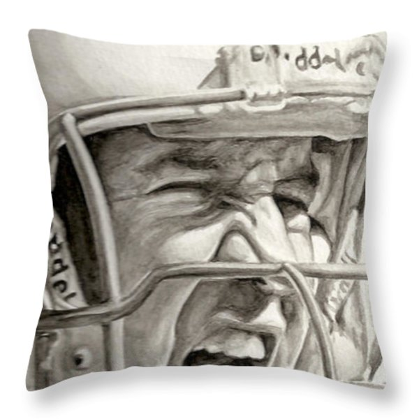 Intensity Peyton Manning Throw Pillow by Tamir Barkan