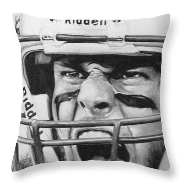 Intensity Tom Brady Throw Pillow by Tamir Barkan