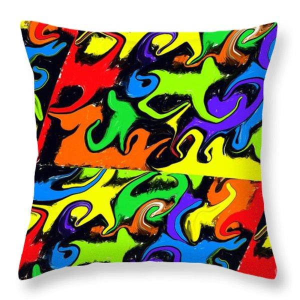 Intergalactic Throw Pillow by Chris Butler