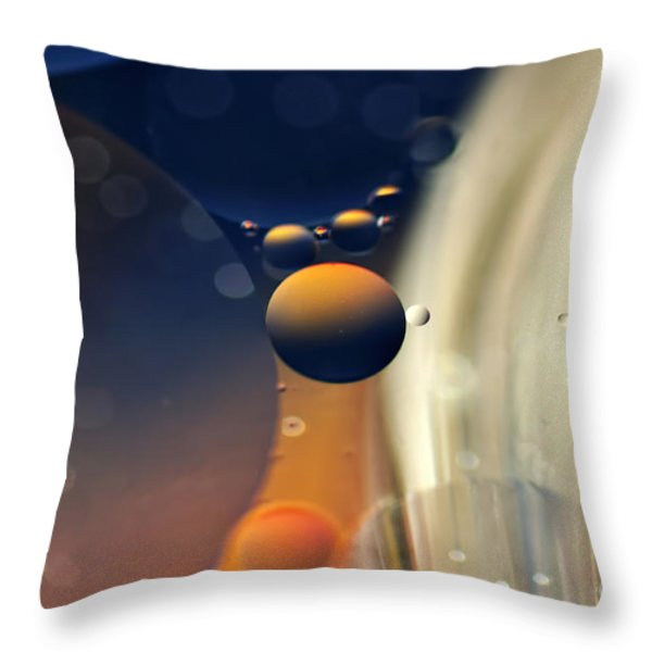 Intergalactic Space Throw Pillow by Kaye Menner