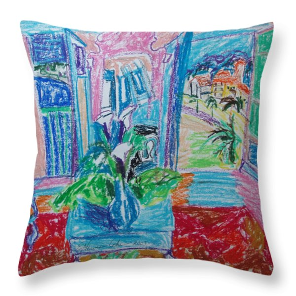Interior a la Nice Throw Pillow by Esther Newman-Cohen