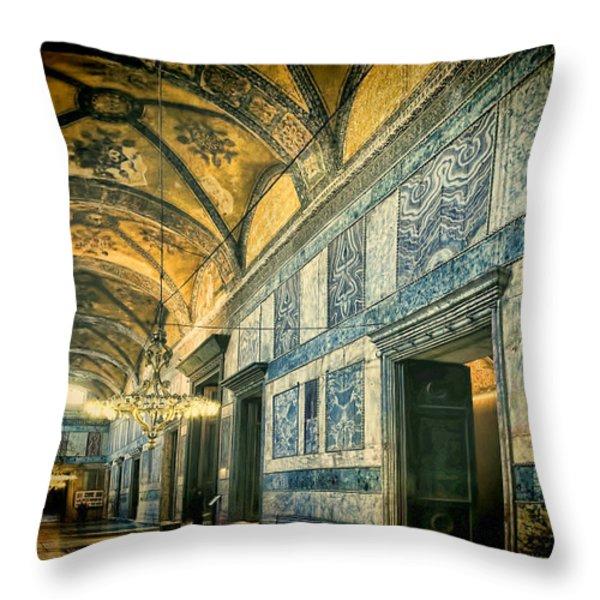 Interior Narthex Throw Pillow by Joan Carroll