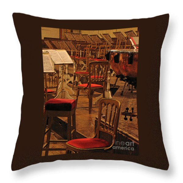 Intermission Throw Pillow by Ann Horn
