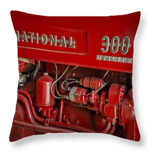 International 300 Utility Harvester Throw Pillow by Susan Candelario