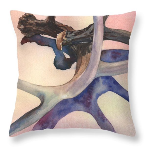 Intersections Throw Pillow by Kris Parins