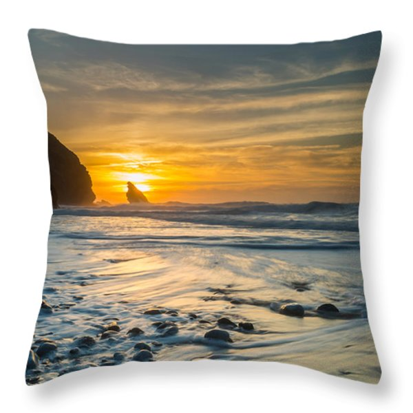 Into The Blue I Throw Pillow by Marco Oliveira
