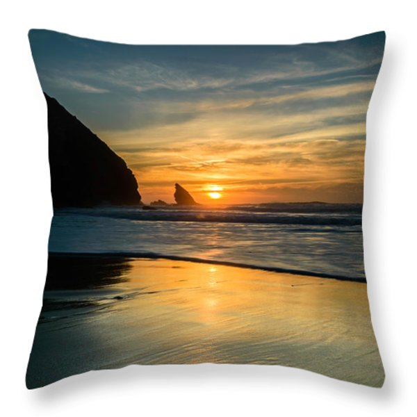 Into The Blue II Throw Pillow by Marco Oliveira