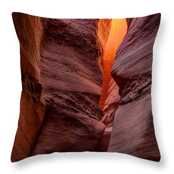 Into The Cravasse Throw Pillow by Dustin  LeFevre