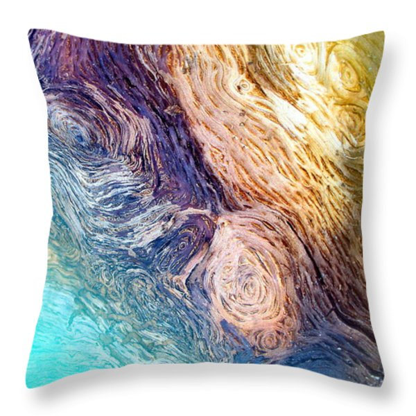 Into The Deep Throw Pillow by Joyce Dickens