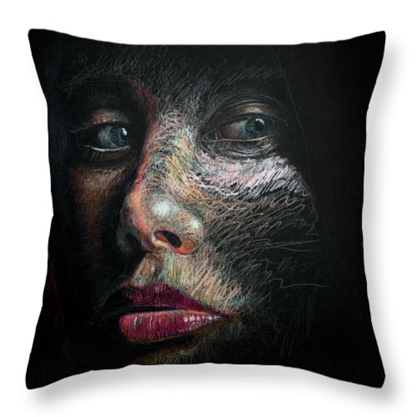 Into The Light Throw Pillow by Frank Robert Dixon