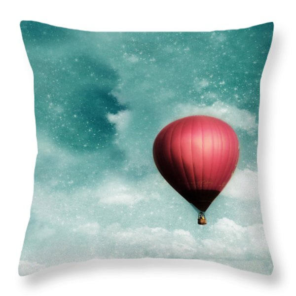 Into the Night Throw Pillow by Amy Tyler