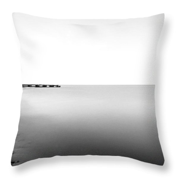 Into The Nothing Throw Pillow by CJ Schmit
