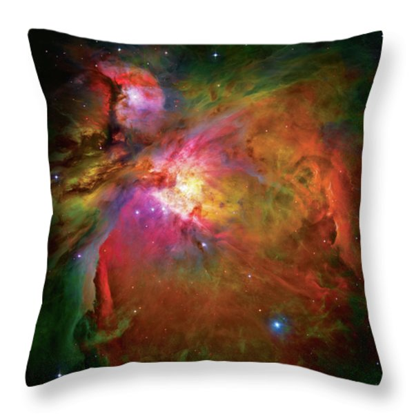 Into the Orion Nebula Throw Pillow by The  Vault - Jennifer Rondinelli Reilly