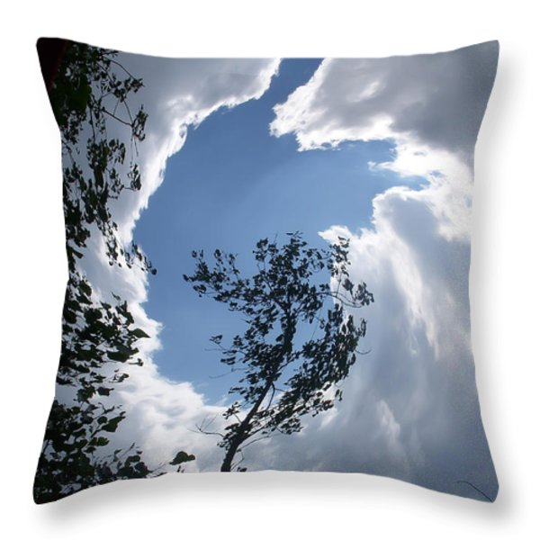 Into The Sky Throw Pillow by Aimee L Maher Photography and Art