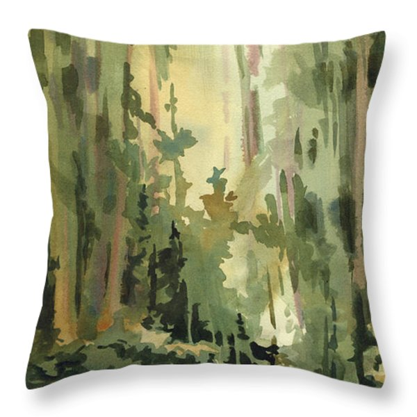 Into the Wild Throw Pillow by Kris Parins