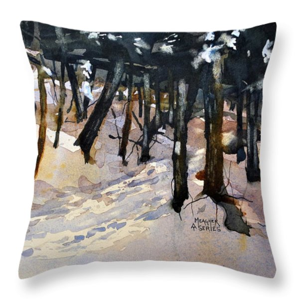 Into The Woods Throw Pillow by Spencer Meagher