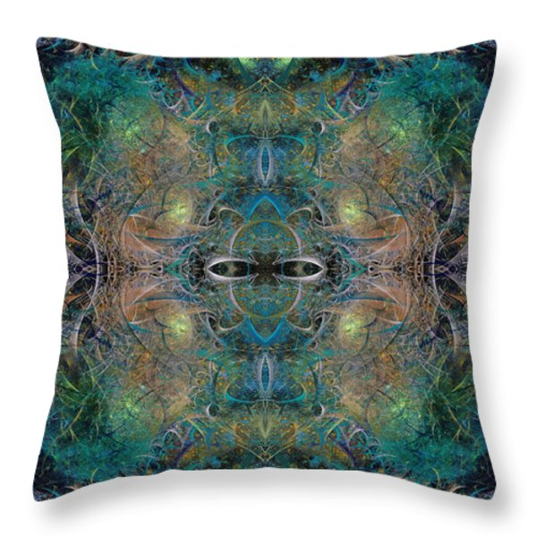 Intrigue of Mystery Four of Four Throw Pillow by Betsy A  Cutler