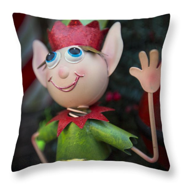 Introduce Yours-ELF Throw Pillow by Evelina Kremsdorf