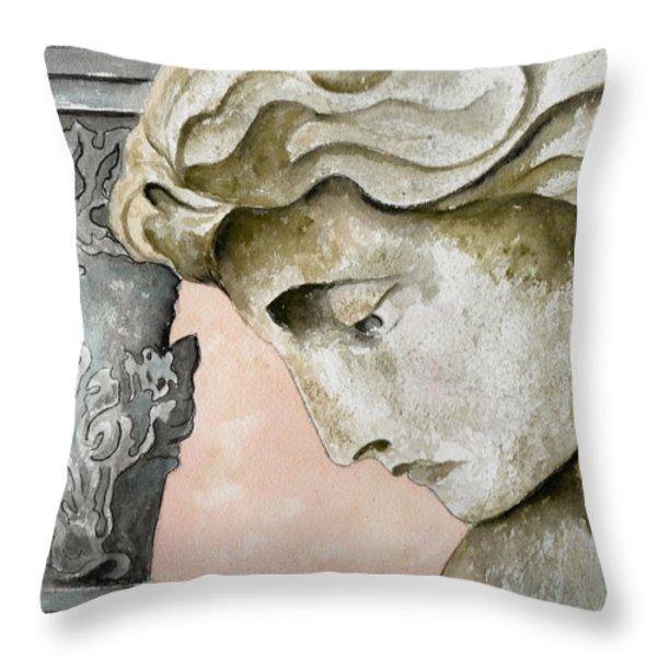 Introspective Throw Pillow by Brenda Owen