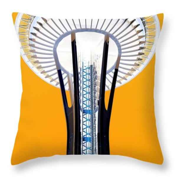 Inverted Needle Throw Pillow by Chris Anderson