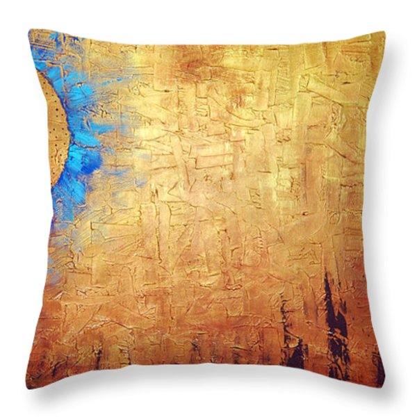 Invisible Blue Sun Throw Pillow by Sharon Cummings