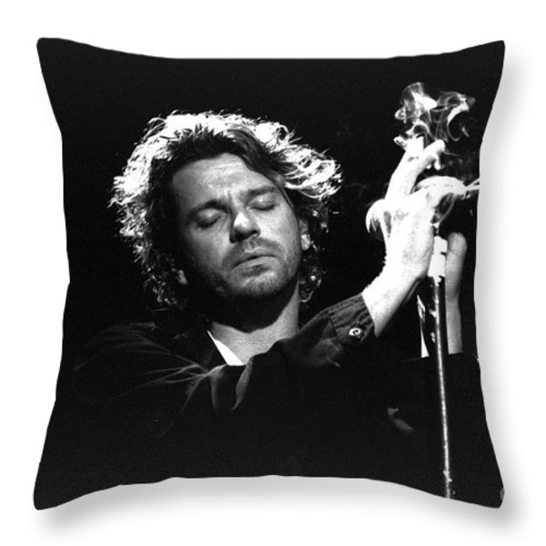 INXS-Michael-GP04 Throw Pillow by Timothy Bischoff
