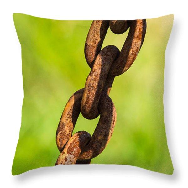iPhone Case - Rusty Chain Throw Pillow by Alexander Senin