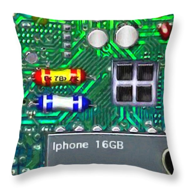 Iphone I-art Throw Pillow by Wingsdomain Art and Photography