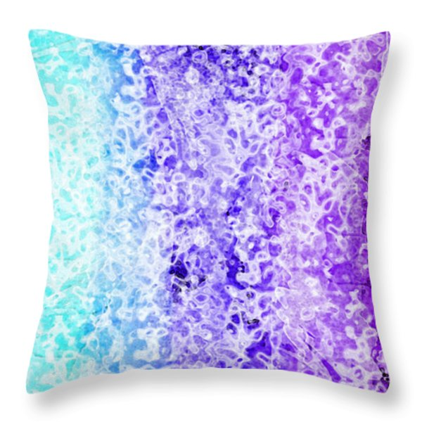 Iphone Purple And Blue Abstract Throw Pillow by Debbie Portwood