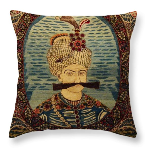 Iran King Abbas Carpet Museum Tehran Throw Pillow by Lois Ivancin Tavaf