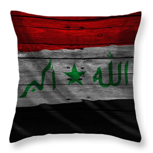 IRAQ Throw Pillow by Joe Hamilton