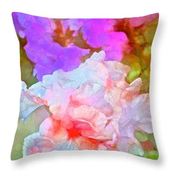 Iris 60 Throw Pillow by Pamela Cooper