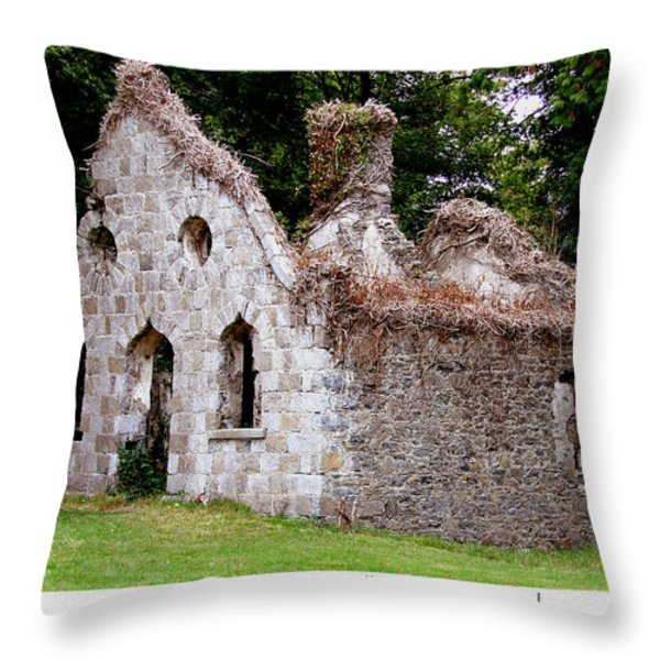 Irish Blessing Throw Pillow by Charlie and Norma Brock