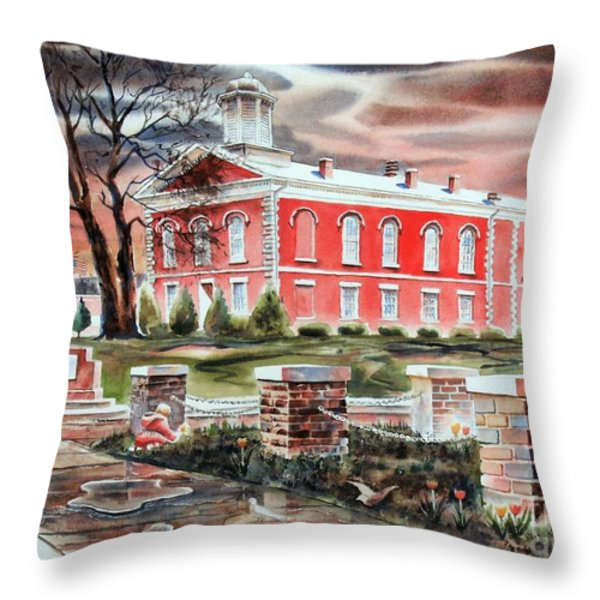 Iron County Courthouse No W102 Throw Pillow by Kip DeVore