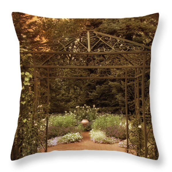 Iron Entrance Throw Pillow by Jessica Jenney