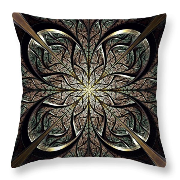 Iron Gate Throw Pillow by Anastasiya Malakhova