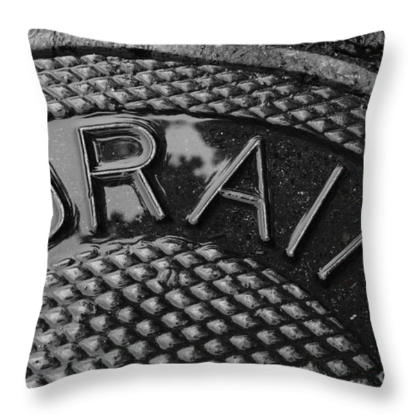 Irony Throw Pillow by Luke Moore