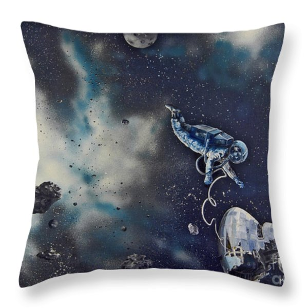 Is Anybody Out There Throw Pillow by Murphy Elliott