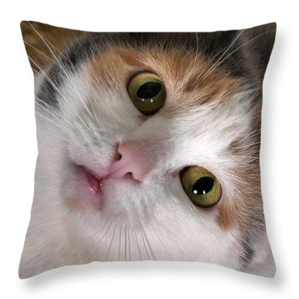 Isabella Throw Pillow by Camille Lopez