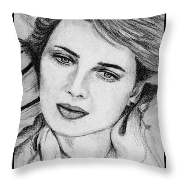 Isabella Rossellini In 1983 Throw Pillow by J McCombie