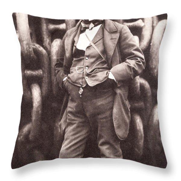 Isambard Kingdom Brunel  Throw Pillow by Robert Howlett