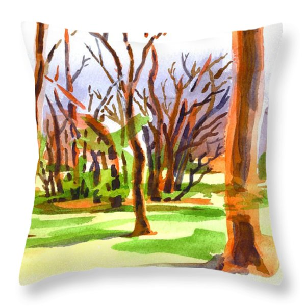 Island In The Wood Throw Pillow by Kip DeVore